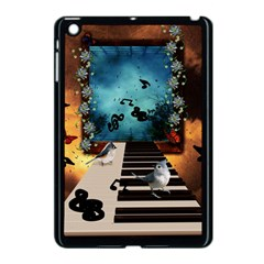 Music, Piano With Birds And Butterflies Apple Ipad Mini Case (black)
