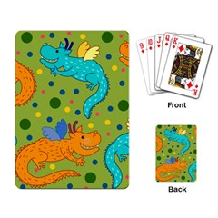 Colorful Dragons Pattern Playing Card