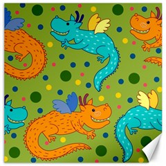 Colorful Dragons Pattern Canvas 12  X 12
