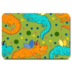 Colorful Dragons Pattern Large Doormat