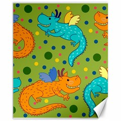 Colorful Dragons Pattern Canvas 11  X 14