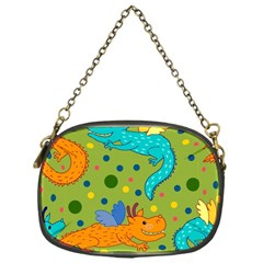 Colorful Dragons Pattern Chain Purses (one Side)
