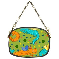 Colorful Dragons Pattern Chain Purses (two Sides)