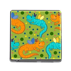 Colorful Dragons Pattern Memory Card Reader (square)