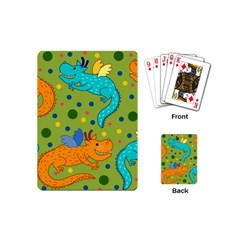 Colorful Dragons Pattern Playing Cards (mini)