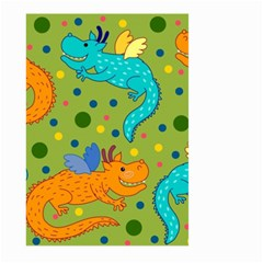 Colorful Dragons Pattern Large Garden Flag (two Sides)
