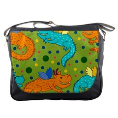 Colorful Dragons Pattern Messenger Bags