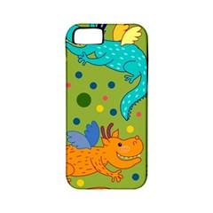 Colorful Dragons Pattern Apple Iphone 5 Classic Hardshell Case (pc+silicone)