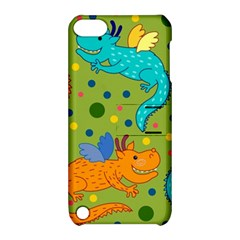 Colorful Dragons Pattern Apple Ipod Touch 5 Hardshell Case With Stand