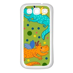 Colorful Dragons Pattern Samsung Galaxy S3 Back Case (white)