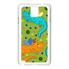 Colorful Dragons Pattern Samsung Galaxy Note 3 N9005 Case (white)