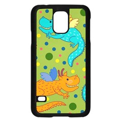 Colorful Dragons Pattern Samsung Galaxy S5 Case (black)