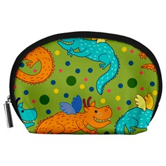 Colorful Dragons Pattern Accessory Pouches (large)