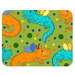 Colorful Dragons Pattern Double Sided Flano Blanket (medium)