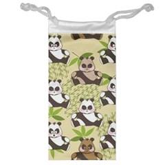 Fun Panda Pattern Jewelry Bag