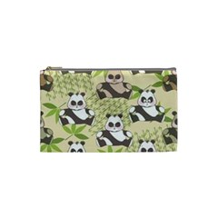 Fun Panda Pattern Cosmetic Bag (small)