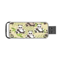 Fun Panda Pattern Portable Usb Flash (two Sides)