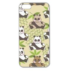 Fun Panda Pattern Apple Seamless Iphone 5 Case (clear)