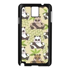 Fun Panda Pattern Samsung Galaxy Note 3 N9005 Case (black)