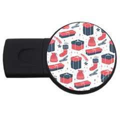 Christmas Gift Sketch Usb Flash Drive Round (4 Gb)
