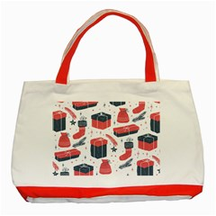 Christmas Gift Sketch Classic Tote Bag (red)
