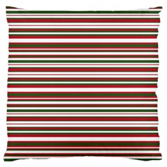 Christmas Stripes Pattern Large Cushion Case (one Side)