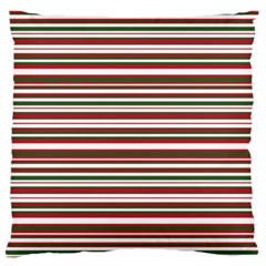 Christmas Stripes Pattern Large Flano Cushion Case (two Sides)