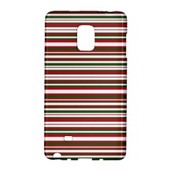 Christmas Stripes Pattern Galaxy Note Edge