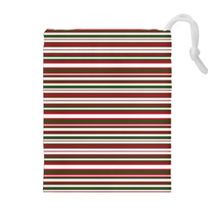 Christmas Stripes Pattern Drawstring Pouches (extra Large)