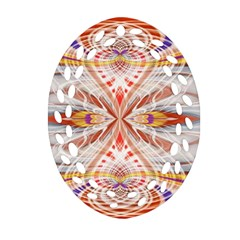Heart   Reflection   Energy Oval Filigree Ornament (two Sides)