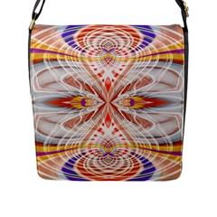 Heart   Reflection   Energy Flap Messenger Bag (l)