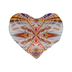 Heart   Reflection   Energy Standard 16  Premium Flano Heart Shape Cushions