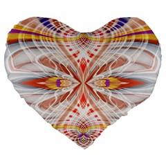 Heart   Reflection   Energy Large 19  Premium Flano Heart Shape Cushions