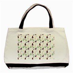 Reindeer Tree Forest Basic Tote Bag (two Sides)