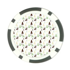 Reindeer Tree Forest Poker Chip Card Guard (10 Pack)