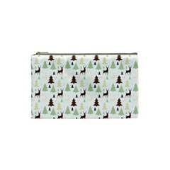 Reindeer Tree Forest Cosmetic Bag (small)
