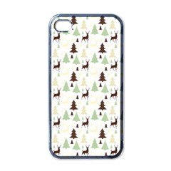 Reindeer Tree Forest Apple Iphone 4 Case (black)