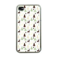Reindeer Tree Forest Apple Iphone 4 Case (clear)