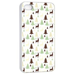 Reindeer Tree Forest Apple Iphone 4/4s Seamless Case (white)