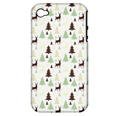 Reindeer Tree Forest Apple Iphone 4/4s Hardshell Case (pc+silicone)