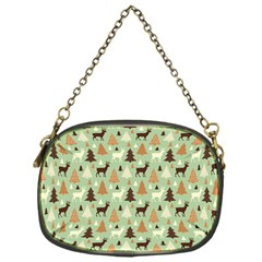 Reindeer Tree Forest Art Chain Purses (one Side)