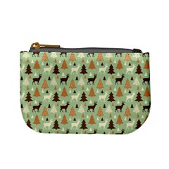 Reindeer Tree Forest Art Mini Coin Purses
