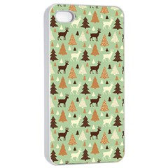 Reindeer Tree Forest Art Apple Iphone 4/4s Seamless Case (white)