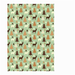 Reindeer Tree Forest Art Small Garden Flag (two Sides)