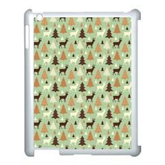 Reindeer Tree Forest Art Apple Ipad 3/4 Case (white)