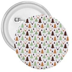 Reindeer Christmas Tree Jungle Art 3  Buttons