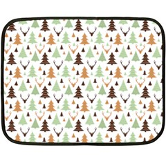 Reindeer Christmas Tree Jungle Art Double Sided Fleece Blanket (mini)