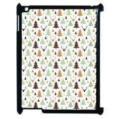 Reindeer Christmas Tree Jungle Art Apple Ipad 2 Case (black)
