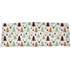 Reindeer Christmas Tree Jungle Art Body Pillow Case (dakimakura)