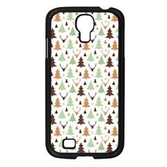 Reindeer Christmas Tree Jungle Art Samsung Galaxy S4 I9500/ I9505 Case (black)